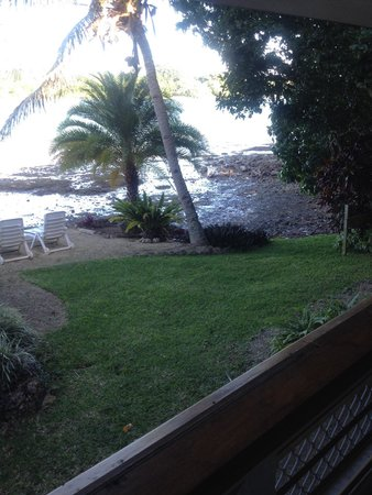 Seachange Lodge: View from inside Garden Cottage