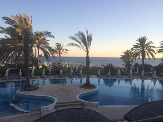Constantinou Bros Athena Beach Hotel: View from terrace bar before dinner