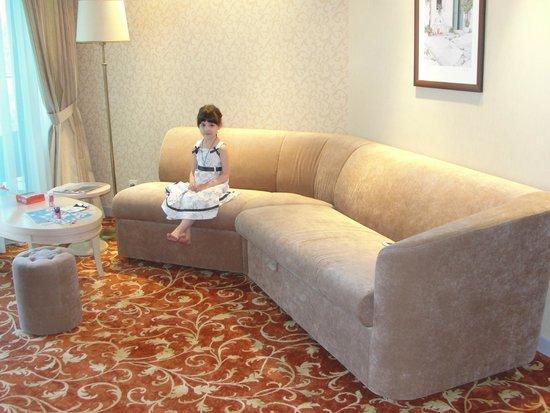 Dagomys Hotel: Гостиная люкса с раскладным диваном