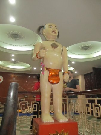 Thang Long Water Puppet Theater: Large puppet on display in the entrance area