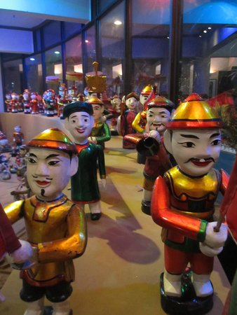 Thang Long Water Puppet Theater: Some of the puppets on display