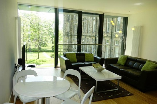 Scotia Grand Residence - Quartermile Apartments: Living area