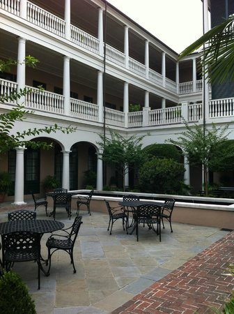 Planters Inn: View of back of hotel from the courtyard.