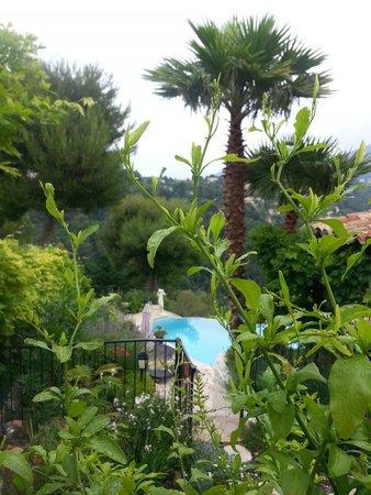Au Jardin de Victorine : View from our room.