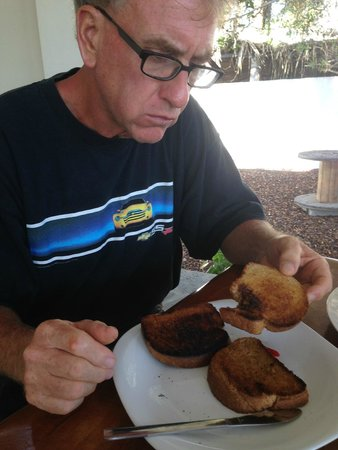 Booby Trap: Jim trying Vegemite for the first time