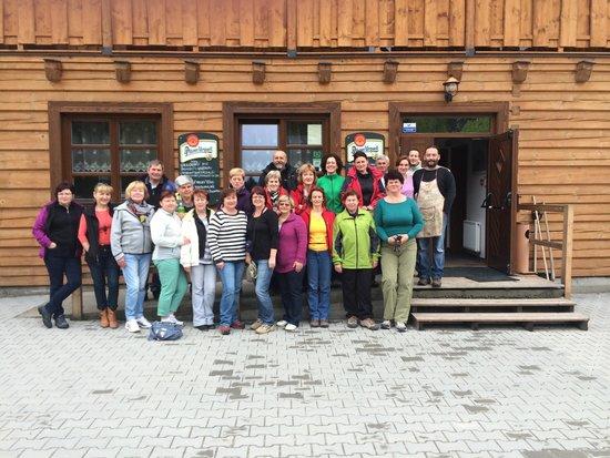 Penzion Rzehaczek: Our group i with owner