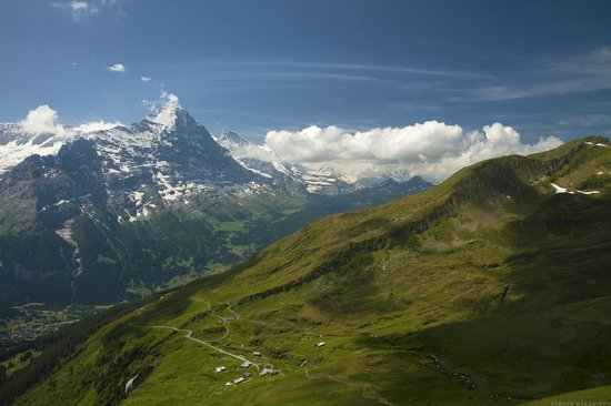 Grindelwald, Switzerland: Вид на Гриндельвальд