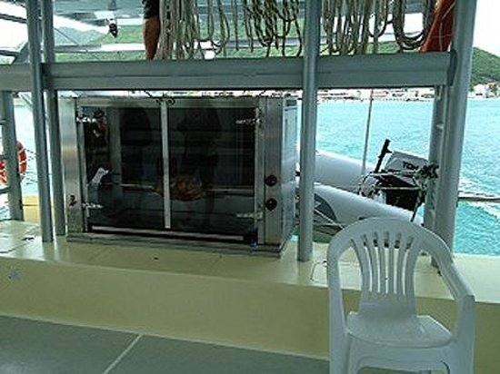 The rotisserie on board the Winner Touch