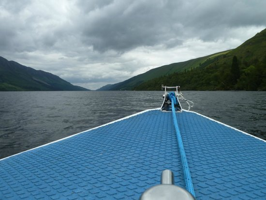 Letterfinlay Lodge Hotel: view from boat on Loch Lochy