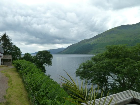 view from decking area at Letterfinlay Lodge Hotel