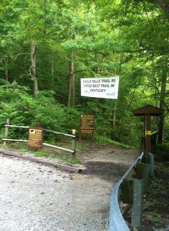 Cumberland Falls State Resort Park : Eagle Falls Trail entry
