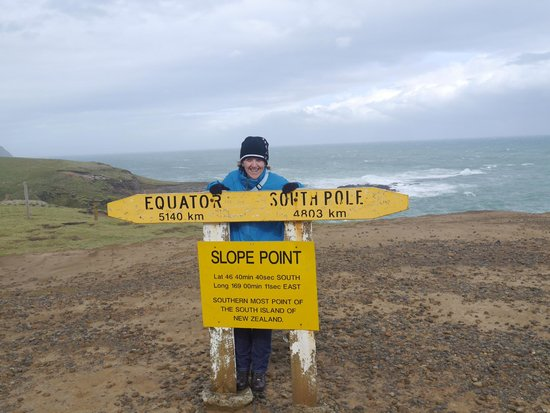 The surviving signpost At Slope Point