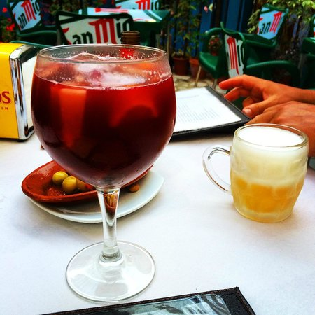 La Parrilla del Pilar: Best Sangria we sampled in Gaucin