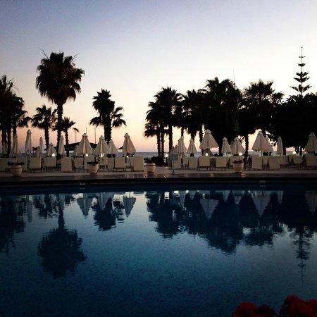 Louis Ledra Beach: View from pool bar on Gala dinner night