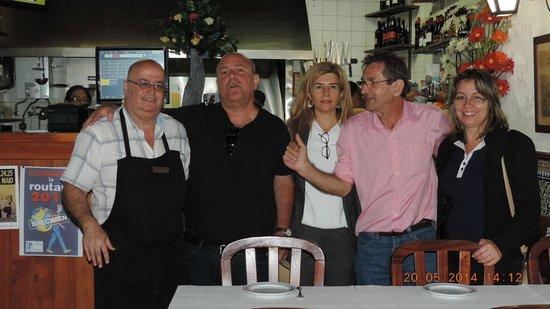 Tulhas Bar & Restaurante: Com o proprietário, Sr. Joaquim Barrela.