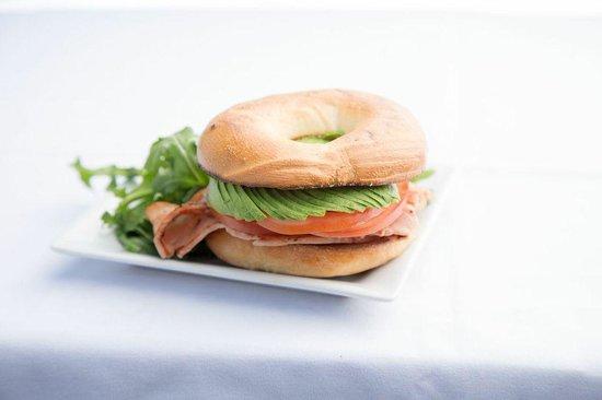 Sidewalk Cafe Restaurant & Bar: Sidewalk Bagels fresh in the morning