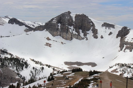 Jackson Hole Aerial Tram : View on the way to the top of Mt. Rendevous