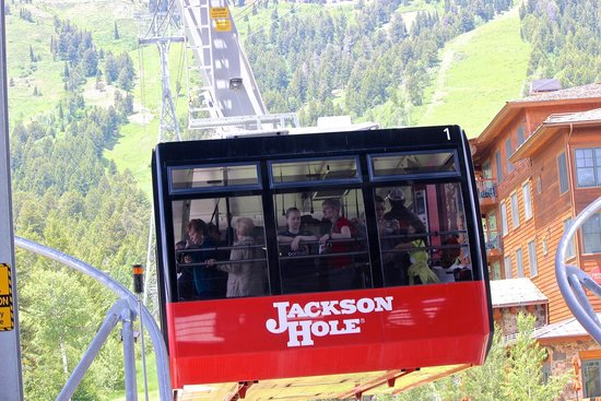 Jackson Hole Aerial Tram : A parallel tram headed up when we were headed back to base