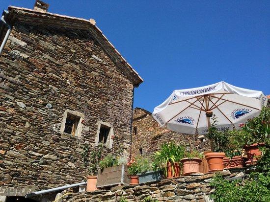 La Bastide de Trémiéjols : La bastide vue du jardin