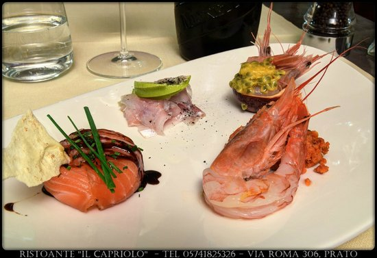 Il Capriolo: Degustazione crudité di mare, menù estivo 2014