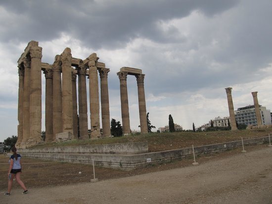 Temple of Olympian Zeus : Not a great photo, definitely doesn't do it justice.