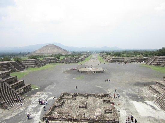 teotihuacan, vue du Temple de la Lune