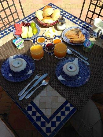 Riad Al Rimal: Breakfast