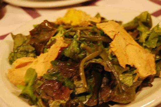 Auberge des Pyrenees Cevennes : Foie gras over salad greens