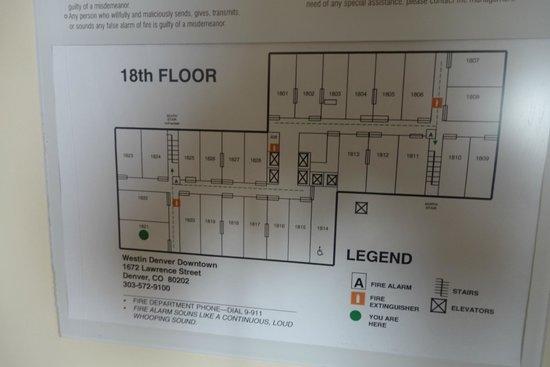 The Westin Denver Downtown: Floor Plan