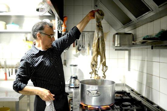 Le Bistrot du Picador : La cuisson du poulpe