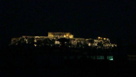 Melia Athens: Night view from roof