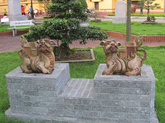 Vietnam National Museum of History: Statues of mythical Lion Dogs