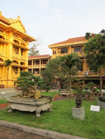 Vietnam National Museum of History: View across the garden display area
