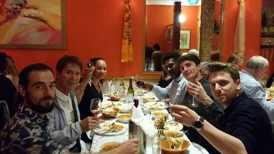 On His 2nd visit Cliff Richard with his all Technical Crew dining ...