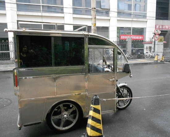 Park Plaza Wangfujing : our tuktuk ride with a lady driver, faster during rush hour