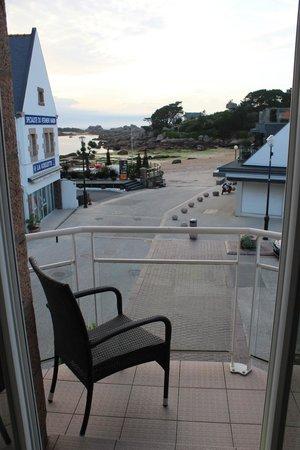 Hotel de l'Europe : Vue de la chambre côté mer