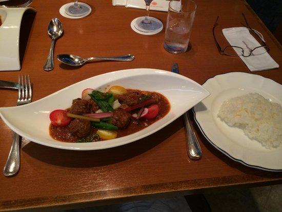 Dai-ichi Hotel Ryogoku: Meal in ground floor restaurant