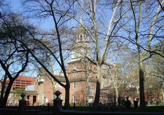 Independence National Historical Park: A spring view seen through the trees on an earlier visit