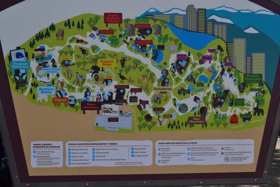 Map at entrance of Denver Zoo - Picture of Denver Zoo, Denver ... Denver Hotels Map on