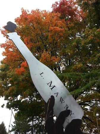 L. Mawby Vineyards: Beautiful fall foliage at the vineyard.