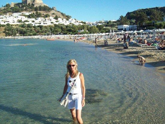 Irene Palace Beach Resort: La baia di Lindos