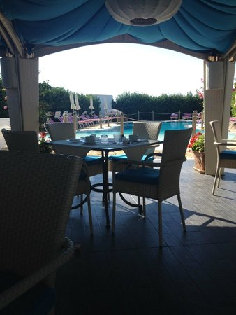 Hotel Principe di Fitalia Wellness & SPa: Pool view from breakfast table