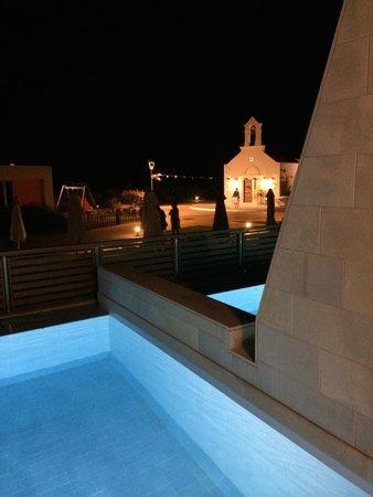 Avra Imperial Beach Resort & Spa: Piscina privita nel terrazzo della mia camera
