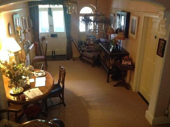 The Old Vicarage: the entrance hall
