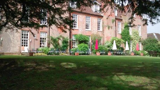 Hintlesham Hall: View of the back
