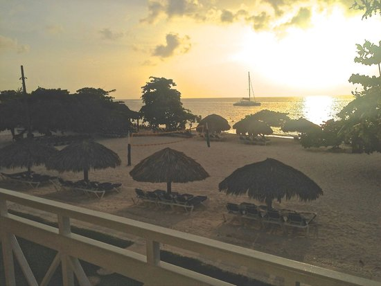 Sandals Montego Bay: from our room at sunset