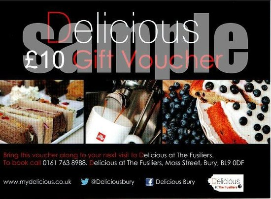 Delicious: Gift Vouchers, perfect for any occasion.