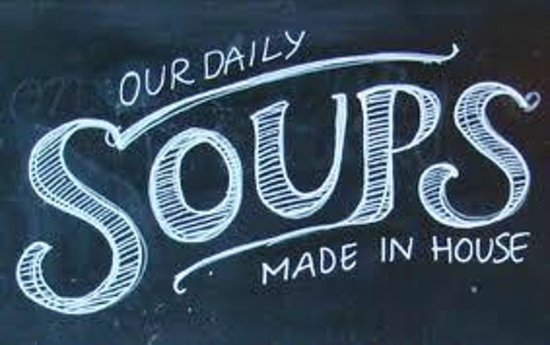 Delicious: All our soups are home made in house