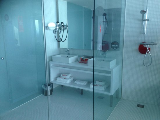 nhow Rotterdam: See-thru bathroom may not be to all guests' tastes. Door shuts either loo or bathroom; not both