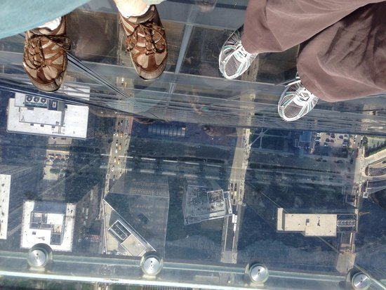 Skydeck Chicago - Willis Tower: A fun shot to take if you go!